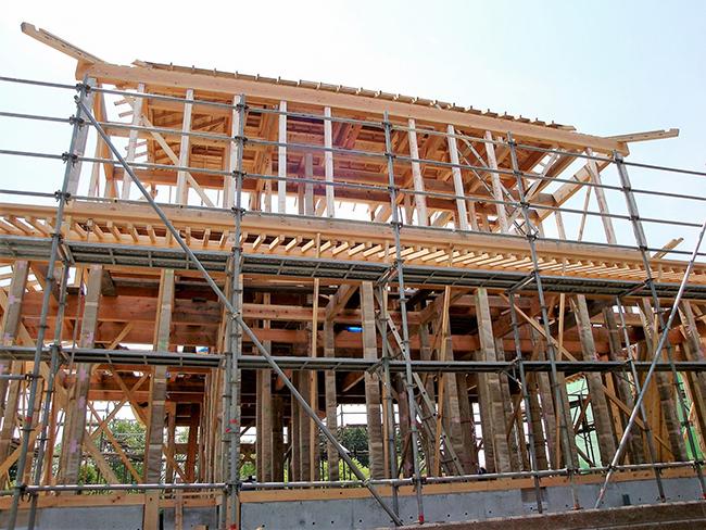 木造建築の様子